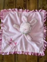 Carter's Bunny Lovey Thank Heaven For Little Girl's Pink Baby Blanket Sa... - $17.82