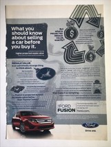 Ford Fusion Automobile Print Ad 2011 New Yorker Magazine Car Advertising Photo - $9.95