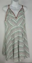 Anthropologie Paper Crane Women's Striped Summer Sun Dress Strappy V-Nec... - $29.69