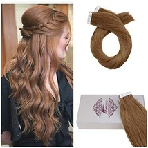 Moresoo 12 Inch Tape in Remy Hair Extensions Straight Hair Color Blonde ... - $33.08