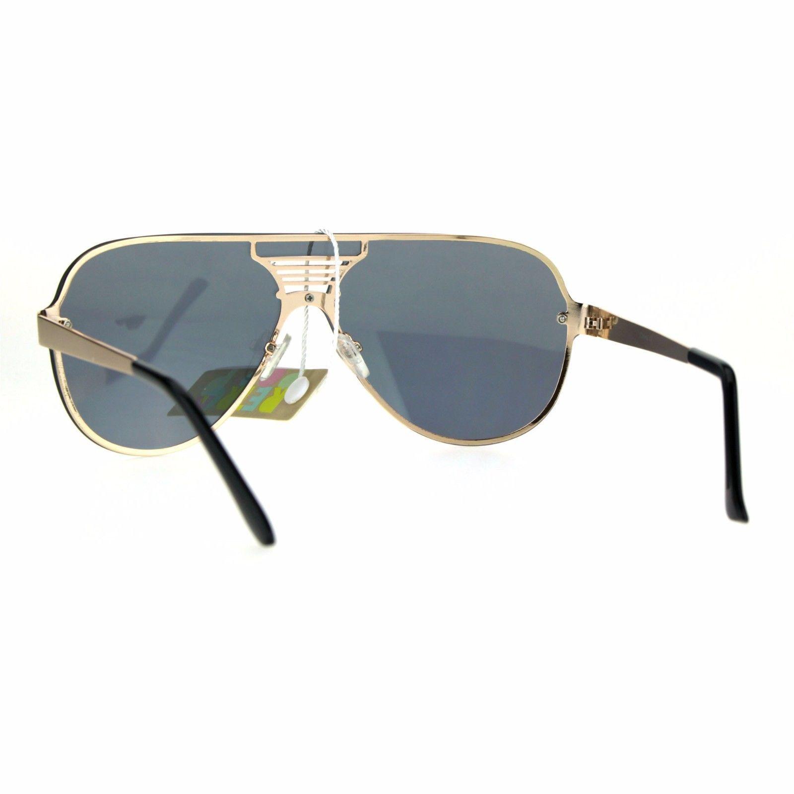 Unisex Aviator Sunglasses Full Mirrored Lens Frame Designer Fashion
