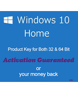 Windows 10 Home 32/64 Bit Product Key with Download Links - $9.00