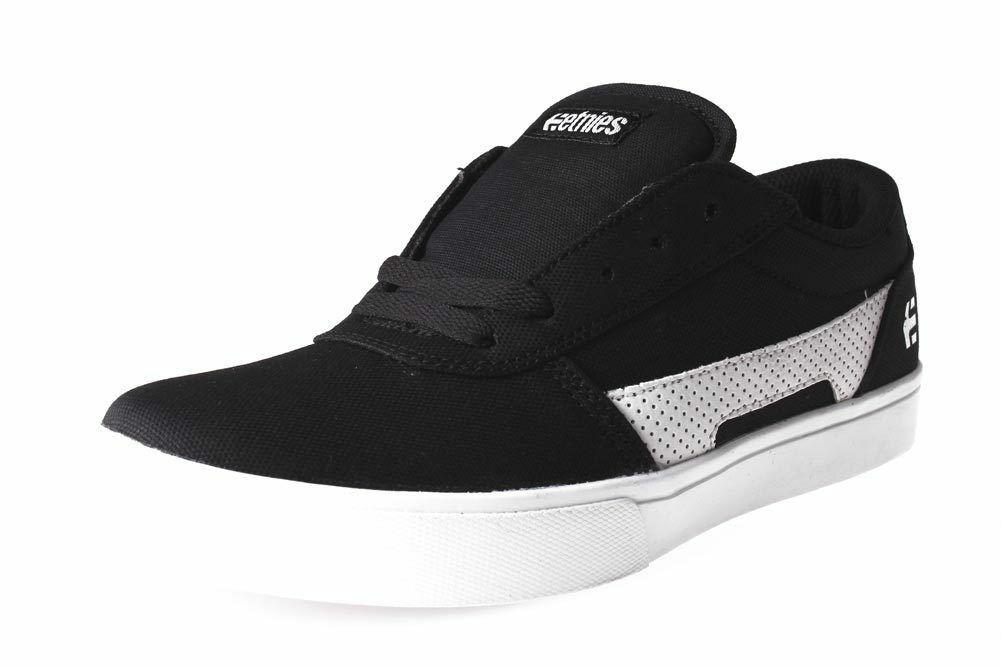 Etnies Noir/Blanc/Noir Rct à Lacet 10 C US Bébé Skate Chaussures Baskets Nib