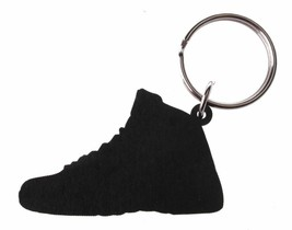 Good Wood NYC Flu Game Black/Red AJ12 12 Keychain XII Shoe Key Ring key Fob image 2