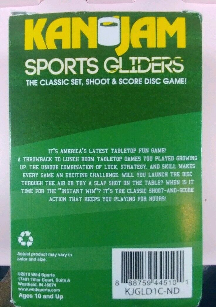 Kan Jam Sports Gliders Game Set New in Box ~ made in USA Notre Dame