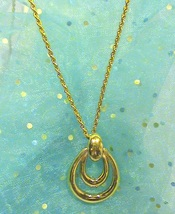 "Vintage Avon 24"" 14KGP Rope Chain Necklace w/Pendant - $19.95"