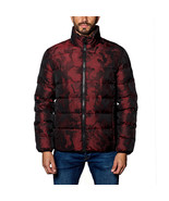 Jared Lang Geneva 2D Men Red Black Camo Down Puffer Jacket Coat - $139.99