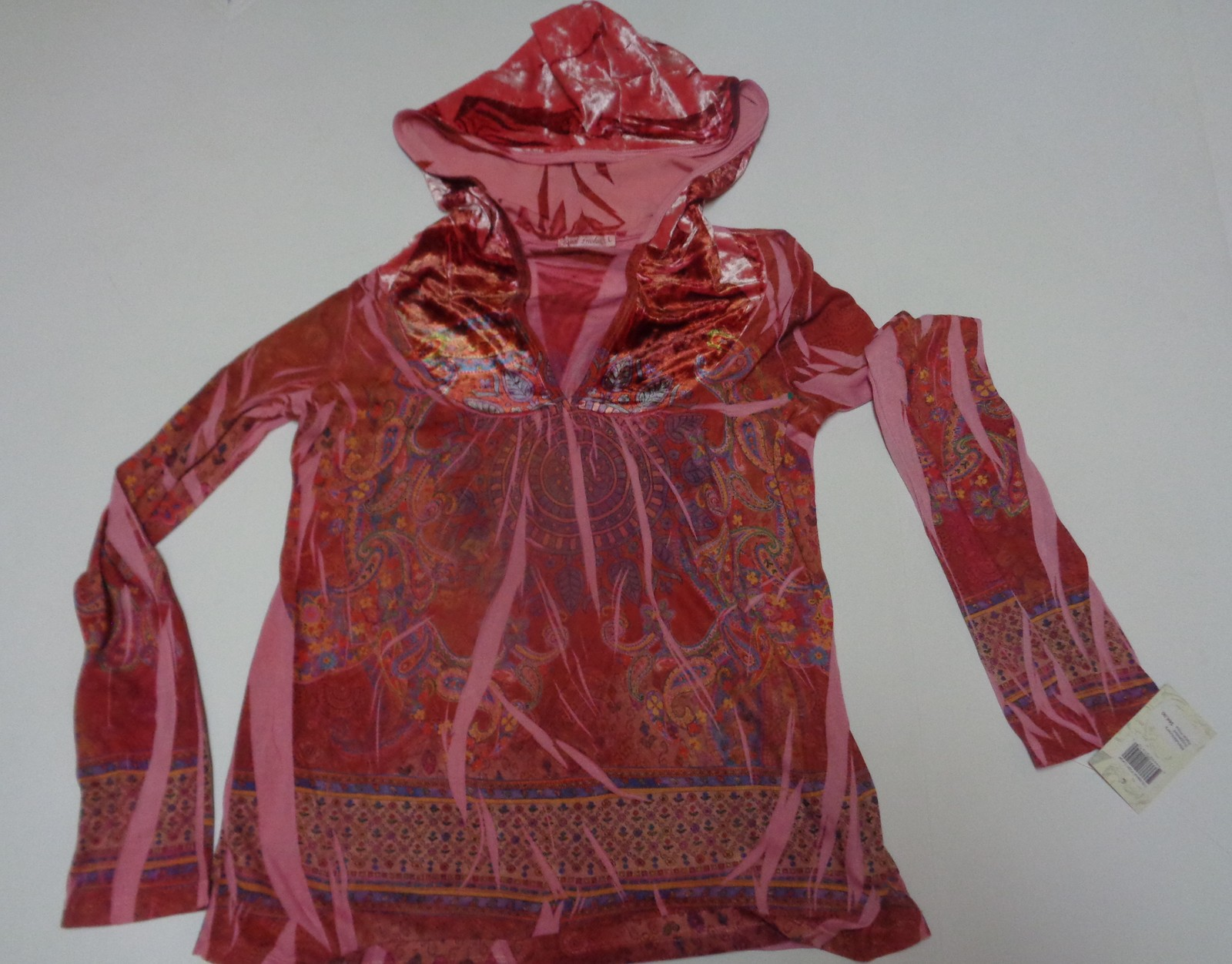 Women's Casual Freedom Hoodie Blouse Velour NWT Sz Large