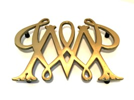 Brass Trivet Williamsburg William & Mary by Virginia Metalcrafters Heavy... - $34.64