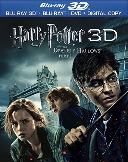 Harry Potter and the Deathly Hallows, Part 1 3D (Blu-ray 3D, Blu-ray, DVD)