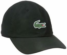 NEW! Lacoste Men's Sport Polyester Cap-Black/Green Croc One Size/Adjustable - $59.28