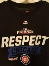 Chicago Cubs Respect Postseason 2016 Mens Size Large T Shirt Majestic MLB  - $9.69