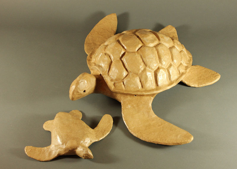 Natural Biodegradable Paper Turtle, Hand Crafted Keepsake Cremation Urn