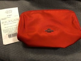 Coach New York TRUE RED Nylon Cosmetic Case Bag F24283 $95 - $39.59