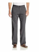 Lee Mens Weekend Chino Straight Fit Flat Front Pant 40X30, ASH, NEW - $28.49