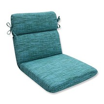 Pillow Perfect Outdoor/Indoor Remi Lagoon Rounded Corners Chair Cushion - £30.71 GBP