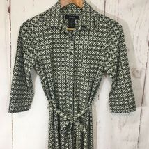 Express Dress Button Down Sz 5/6 3/4 Collared Belted 3/4 Sleeve Career image 6