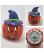 Halloween 3D Head Pumpkin with hat Scented Candle by HALLMARK - $17.82