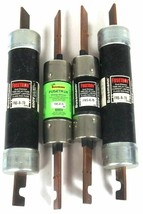 LOT OF 4 BUSSMANN FUSETRON FRS-R-70 DUAL ELEMENT TIME DELAY CLASS RK5 FUSES