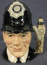 """The London Bobby D6762 Royal Doulton Character Toby Jug Small 4"""" 10cm Big Ben image 1"""