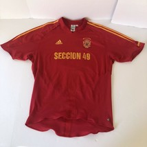 Spain National Team Soccer Jersey Adidas Trefoil Climacool Shirt Mens Size XL - $49.49