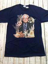 Bernie Sanders Kitty Cat Blue Graphic T Shirt Size Medium - $19.99
