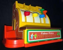Vintage 1974 Fisher Price Cash Register Toy Bell  6 Coins - $36.45
