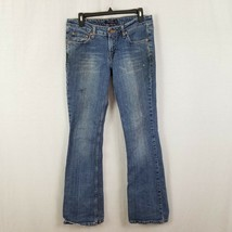 Levis Womens Super Low 518 Boot Cut Jeans Stretch Size 9 Red Tab Long 33x32 - $9.99