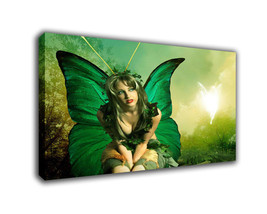 "Cartoon Art Oil Painting Print On Canvas Modern Decor""Butterfly Woman"" F... - $14.80+"