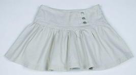 LIMITED TWO GIRLS SIZE 8 KHAKI SKORT PLEATED DECORATIVE BUTTONS 100% COT... - $9.89