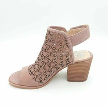 Vince Camuto Kalison Womens Sandal Heels Shoes Pink Leather Ankle Strap 6.5M New - $49.49