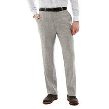 Stafford Linen-Wool Suit Gray Pants Msrp Size 36W-30L New - €26,37 EUR