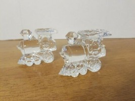 JONAL LEAD CRYSTAL TRAIN PAPERWEIGHTS GERMANY - $24.95