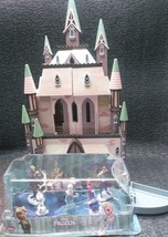 RARE DISNEY STORE FROZEN ARENDELL CASTLE( new FIGurine) DOLL HOUSE ANNA ... - $79.99