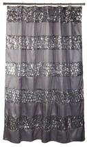 "Popular Bath Shower Curtain, Sinatra Collection, 70"" x 72"", Silver - $40.15"