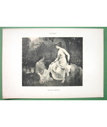 NUDE Bible Suzannah at Bath Chaste - 1903 Lichtdruck Print - $8.44