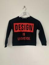 Girls SHEIN Slogan Black Pullover Jumper Age 5 - 6 years old - $9.39