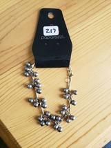 Paparazzi Bracelet(New) Silver W/ Gray Beads 217 - $7.61