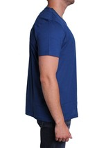 Lacoste Men's Premium Pima Cotton V-Neck Shirt T-Shirt Blue Inkwell image 2