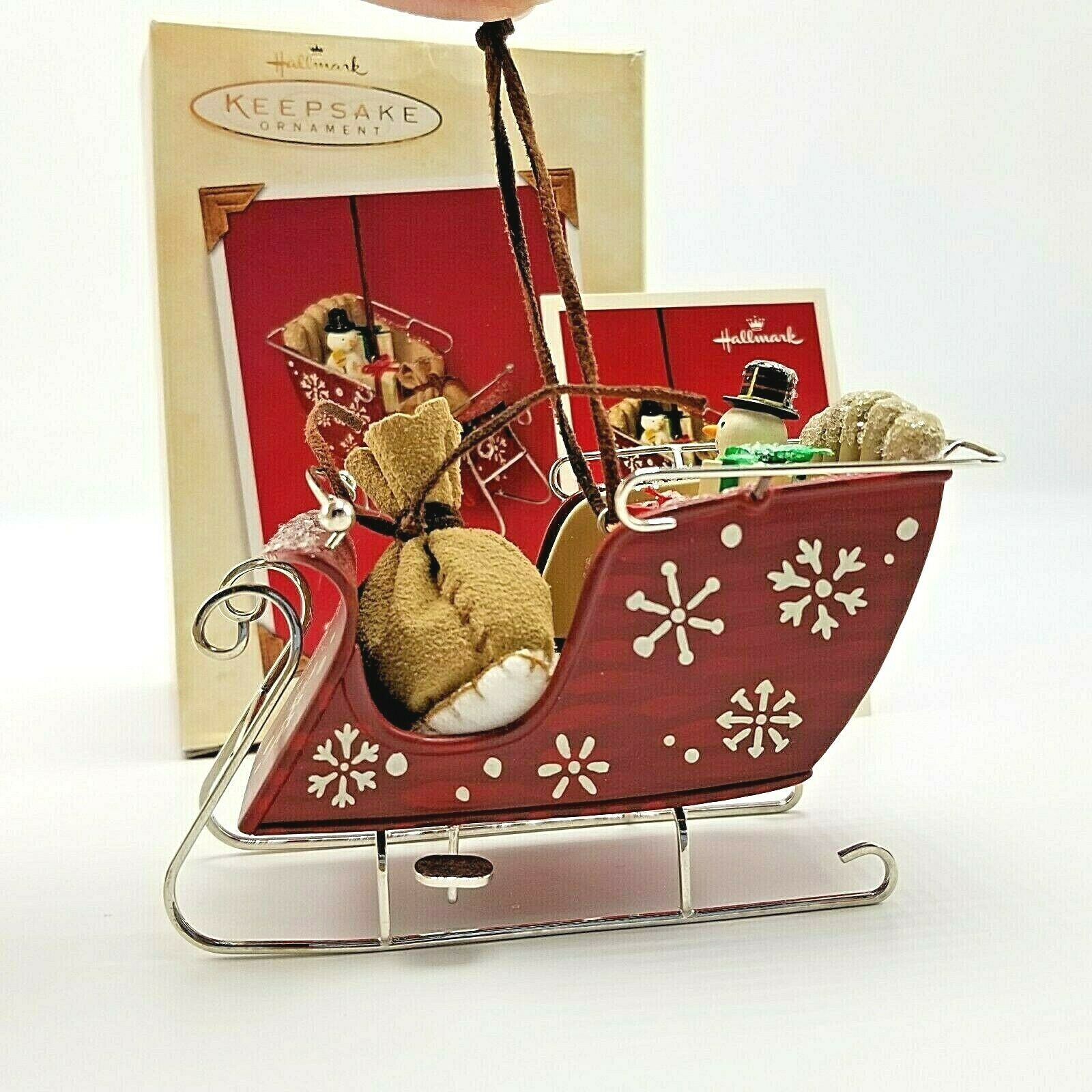 Primary image for 2003 Hallmark Santa's Magic Sleigh Ornament in Box