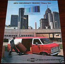 1972 CHEVY TRUCKS   VANS  OWNERS SALES BROCHURE PART SERVICE - $24.99