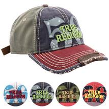 True Religion Men's Premium Cotton Vintage Distressed Trucker Hat Cap TR1690