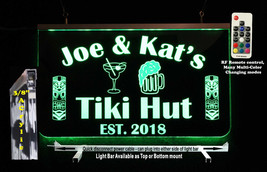 Tiki Bar Sign, Man Cave Sign, Personalized Lighted Sign  - $94.05+