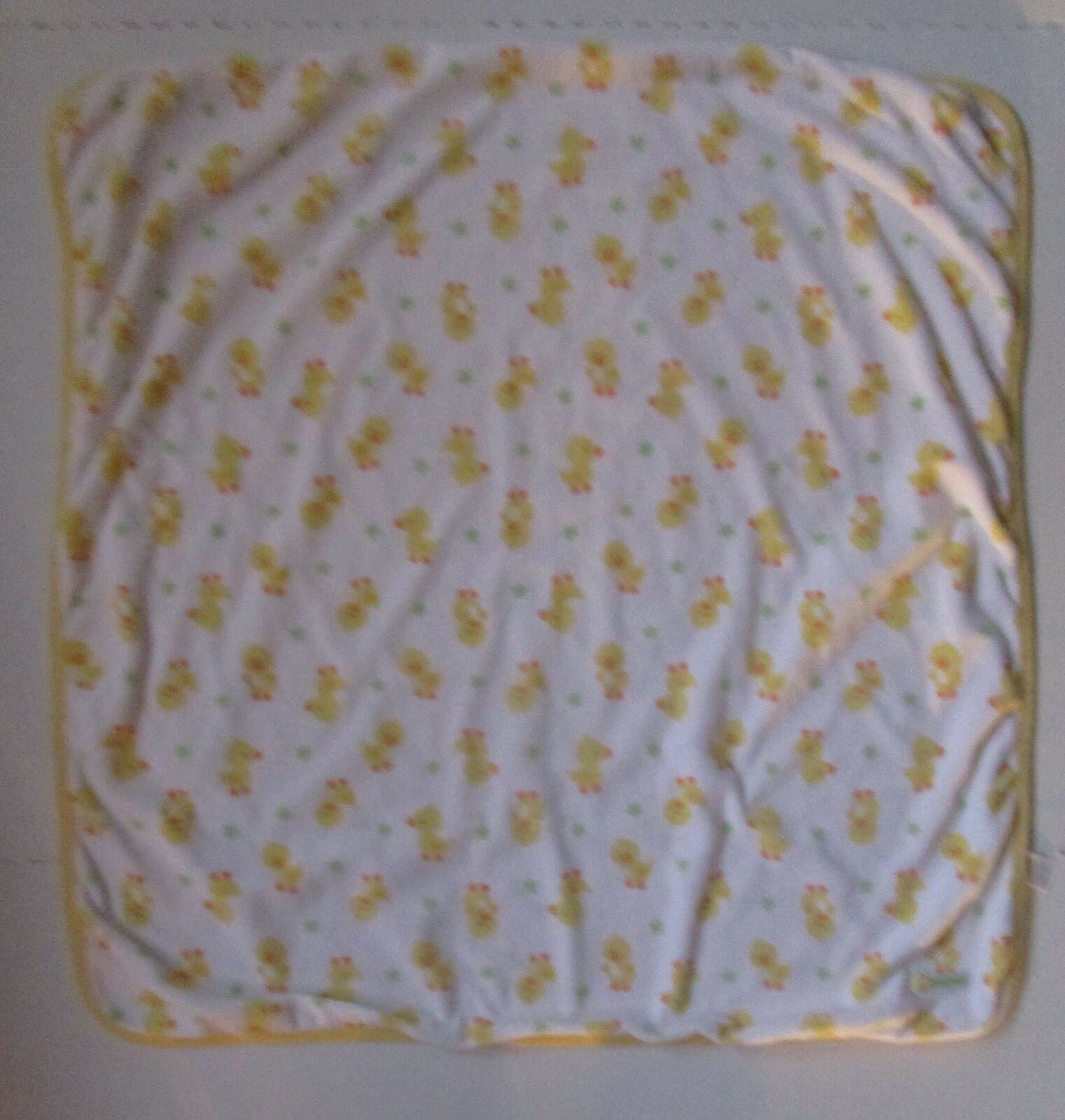aab51ed1b1 Carters Baby Blanket Yellow Baby Ducks White Plush Rubber Duckies Fleece  Knit