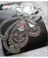 Goody Fashionow Silver Diamonds Metal Butterfly Hair Barrette Clip Fancy... - $15.00