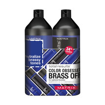 Matrix Total Results Brass Off Shampoo, Conditioner Liter Duo  33.8 oz each - $37.62