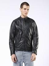 Diesel Men's L-Kalfie Motorcycle Leather Jacket, Black, Size XL BNWT $698 - $374.75