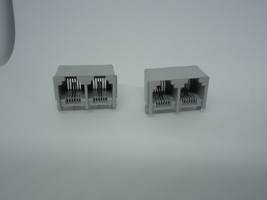 2 Pcs Double Phone RJ11 Port Jack Modular Connector Telephone PCB DIP 2P... - $8.07