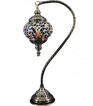 Turkish HANDMADE Glass Mosaic Table Lamp LIGHT ... - $69.29