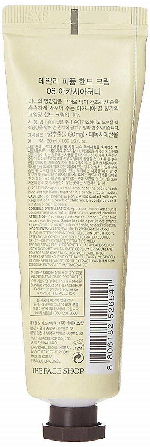 The Faceshop Daily Perfumed Hand Cream, Acacia Honey, 30ml*uk image 5